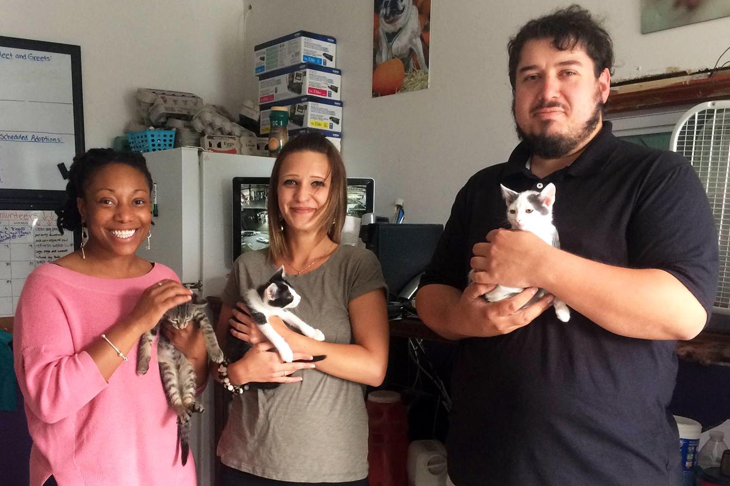 Hamilton Relay donation to Pittsfield animal shelter.